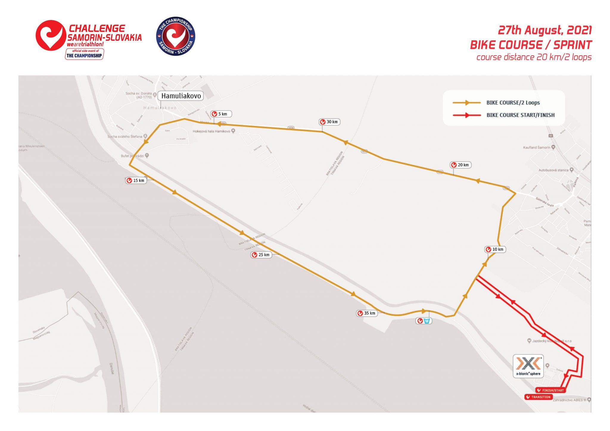 Challenge Samorin Sprint Distance